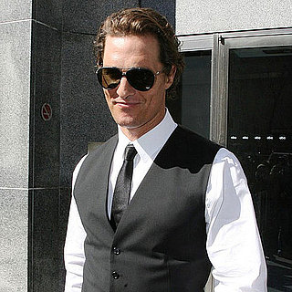 Pictures of Matthew McConaughey and Camila Alves Leaving New Jersey on a Private Plane