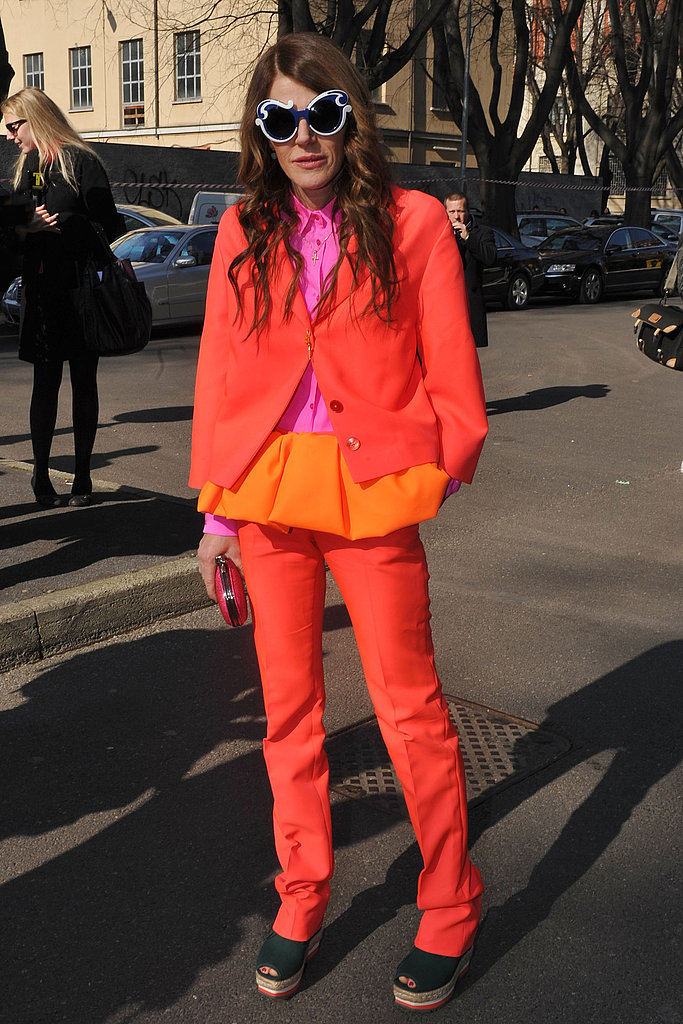 Wearing Jil Sander's sunshiney bright S/S '11 collection.