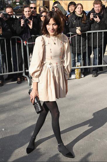 Alexa Chung at Chanel.