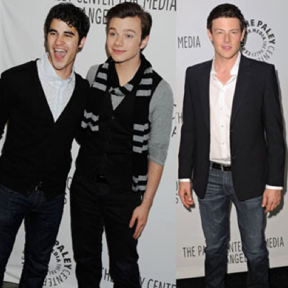 Pictures of Cory Monteith, Chris Colfer, Darren Criss, Jane Lynch, and the Cast of Glee at the 2011 Paleyfest