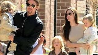 Video: Brad Pitt and Angelina Jolie With All Six Kids in New Orleans