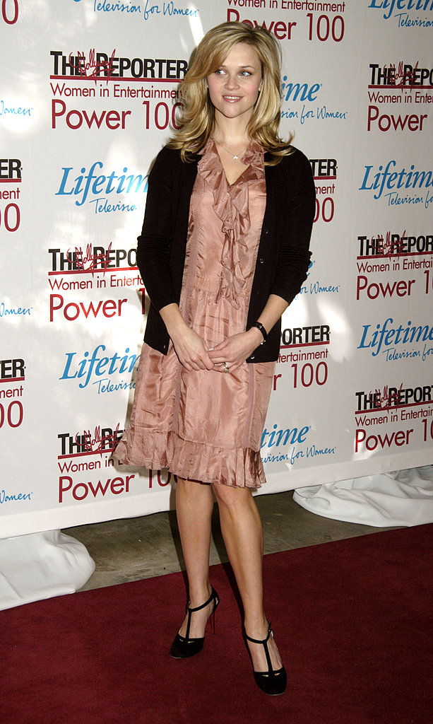 Reese Witherspoon in Blush Dress at 2005 Hollywood Reporter Event