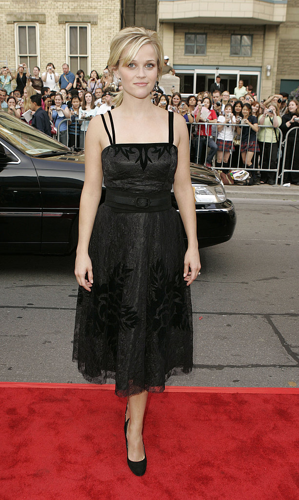 Reese Witherspoon in Lace Dress at 2005 Walk the Line Toronto Screening