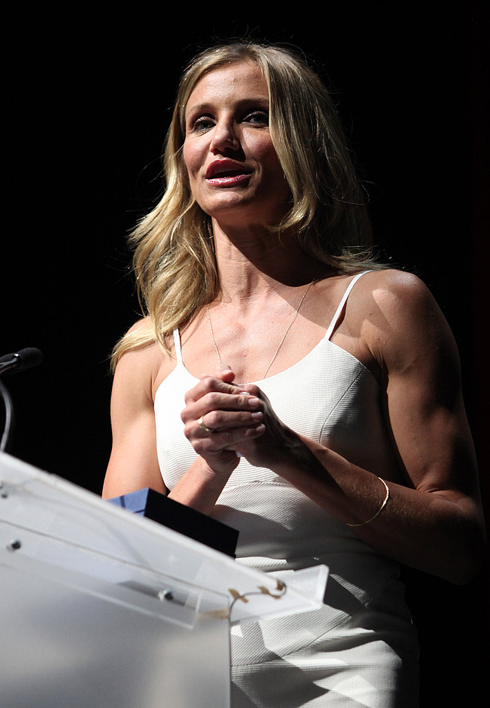 """Cameron Diaz Gets Hugs and an Award From Her """"Poo Poo"""" Drew Barrymore"""