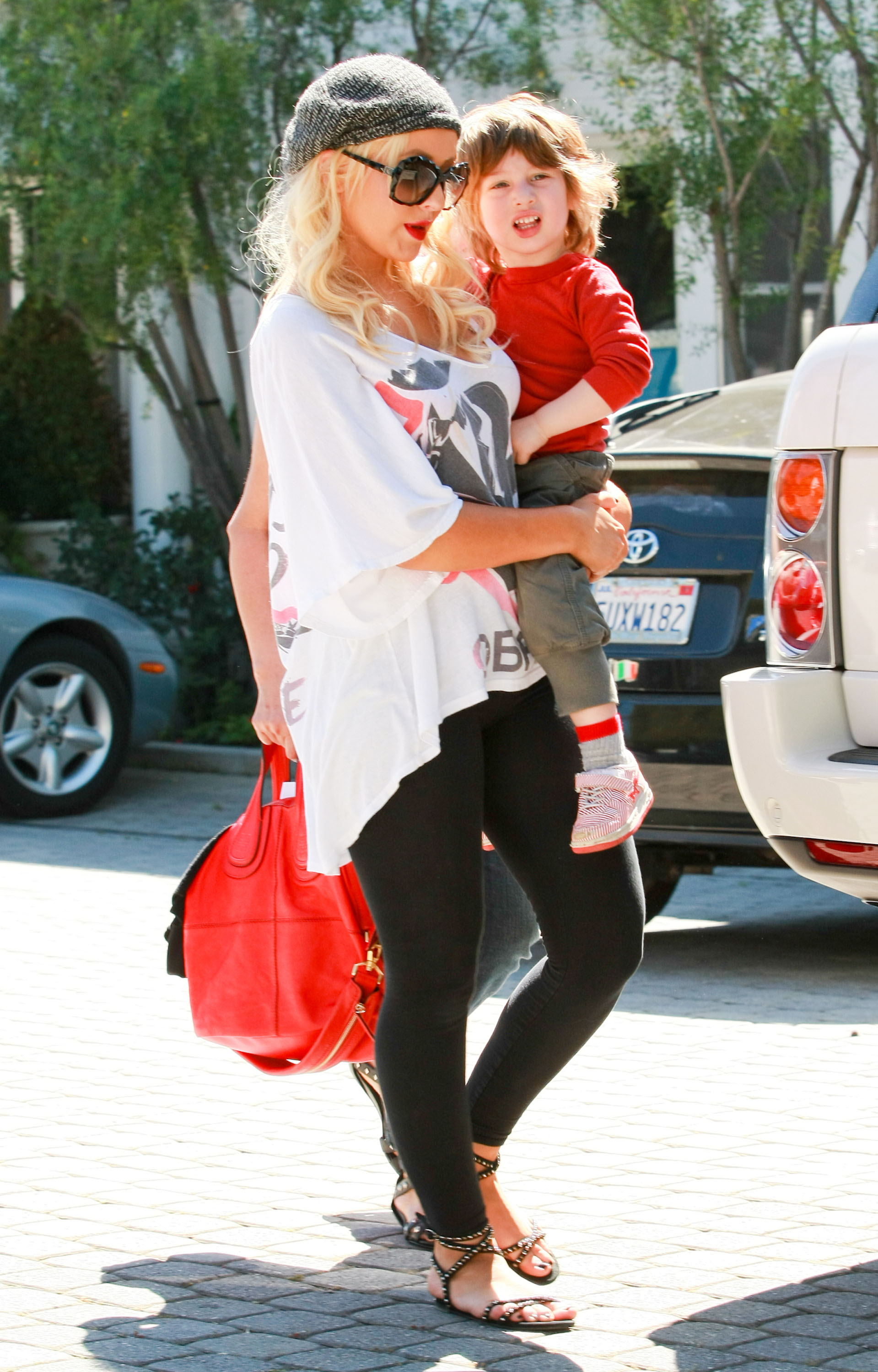 Christina Aguilera Goes From PDA With Matthew to Preschool With Max
