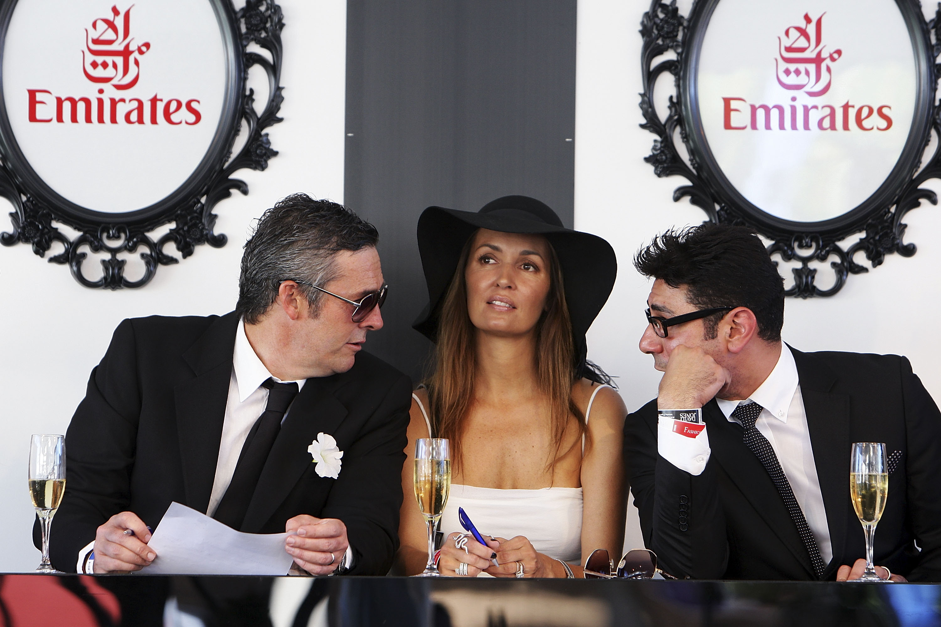 Gail Elliot ponders the Derby Day Fashions on the Field judging panel session.