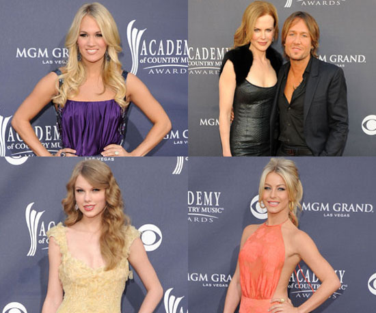 Pictures of Taylor Swift, Carrie Underwood, Nicole Kidman and Keith Urban Arriving at the Academy of Country Music Awards
