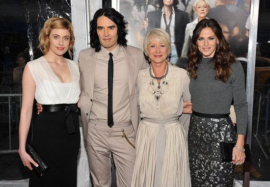Pictures of Russell Brand, Helen Mirren, Jennifer Garner, Greta Gerwig at Arthur New York Premiere
