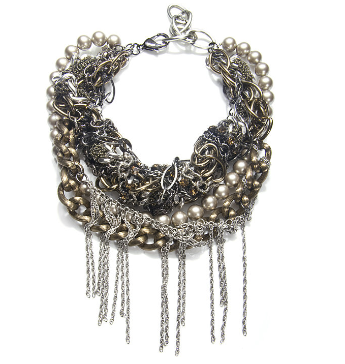 It's like a hundred necklaces mixed together in one decadent Fenton necklace ($663).