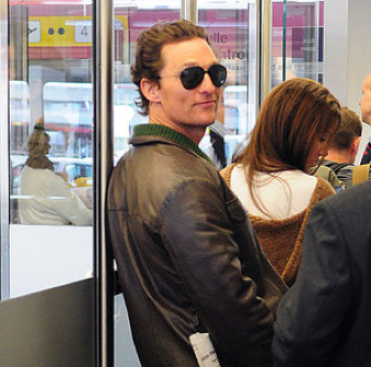 Pictures of Matthew McConaughey Leaving the Berlin Airport