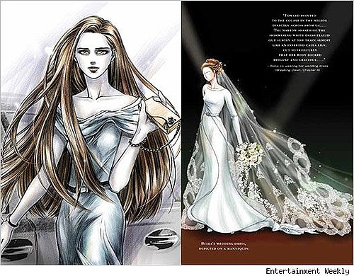 Bella's wedding dress...the artwork