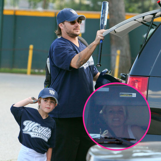 Britney Spears Attends a Little League Game With Kevin Federline