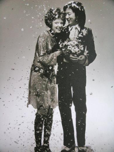Coddington and ex-husband Michael Chow in 1969, photographed by Barry Lategan