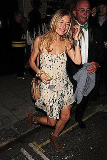 Sienna Miller Wears a Floral Dress