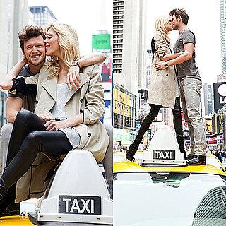 Anja Rubik and Fiance Sasha Knezevic Pose For DKNY in New York