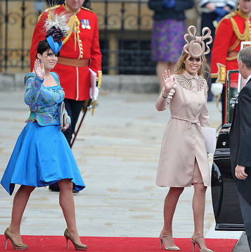 Pictures of Princess Eugenie and Princess Beatrice Leaving Royal Wedding
