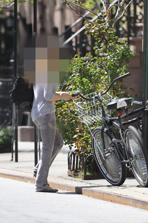Guess Who Is Riding Her Bike in NYC?