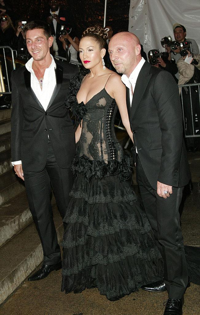 Stefano Gabbana, Jennifer Lopez, Domenico Dolce — 2004