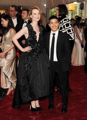 Mia Wasikowska in Thakoon, with the designer