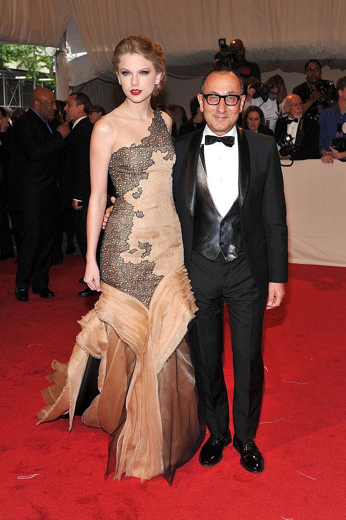 Taylor Swift in J.Mendel with Gilles Mendel