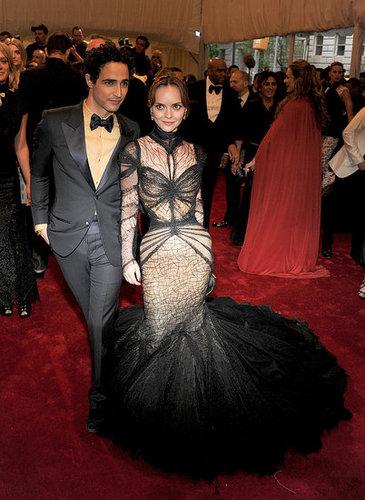 Zac Posen with Christina Ricci in his design