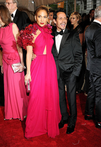 Jennifer Lopez in Gucci, with Marc Anthony