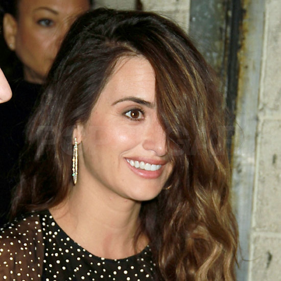 Penelope Cruz Leaving Live With Regis and Kelly in NYC