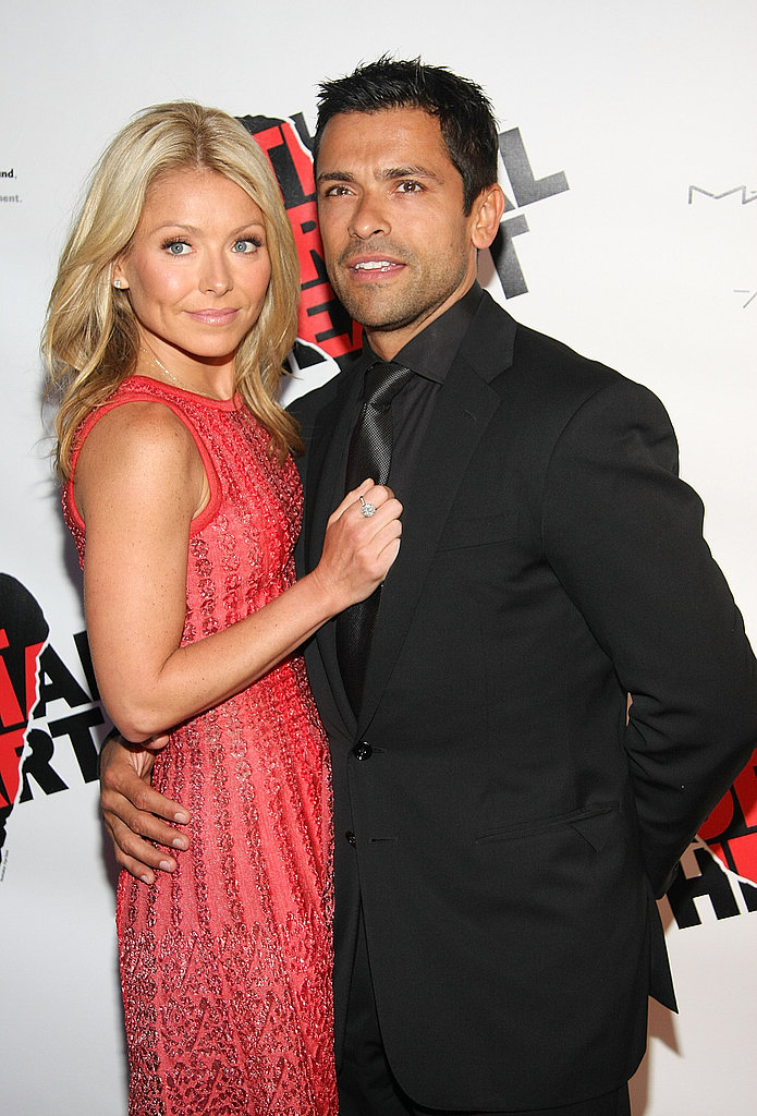 """Kelly Ripa says you know you're a mother when...  """"When you go to work at your television network with snot on your sleeve four out of five days a week."""""""