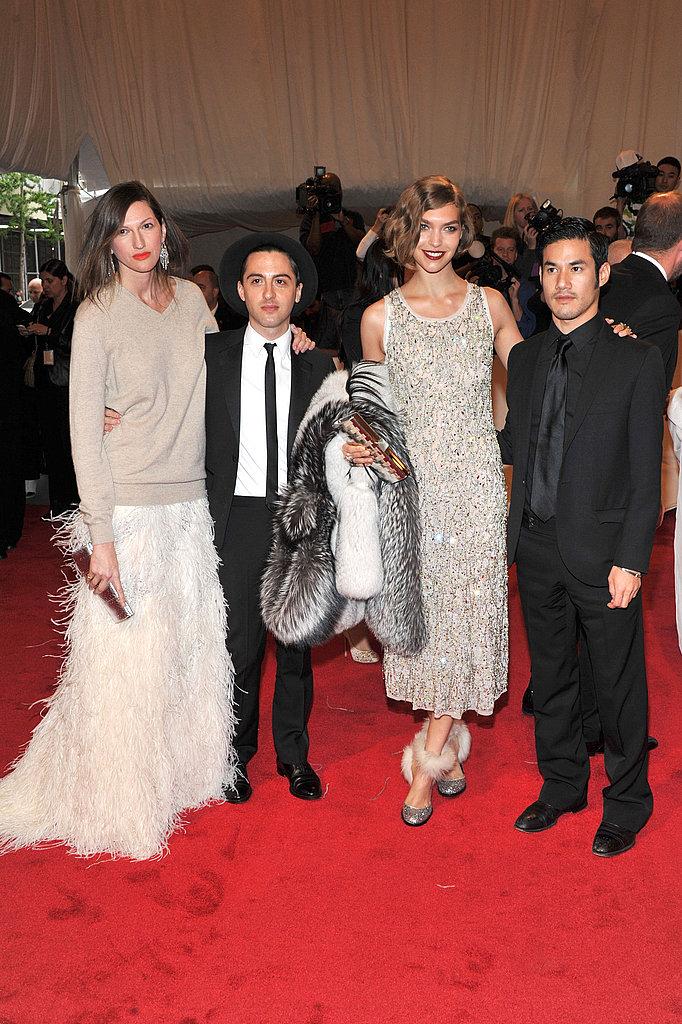 Jenna Lyons, Eddie Borgo, Arizona Muse in Altuzarra, and Joseph Altuzarra