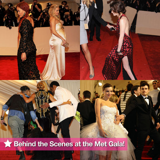 Candid Behind the Scenes Pictures of Celebrities From the 2011 Met Costume Institute Gala