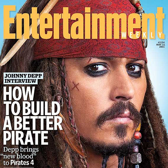 Johnny Depp as Jack Sparrow Entertainment Weekly Cover Promoting On Stranger Tides