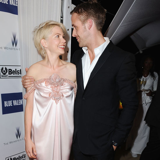 Michelle Williams and Ryan Gosling shared a moment during the premiere of Blue Vale