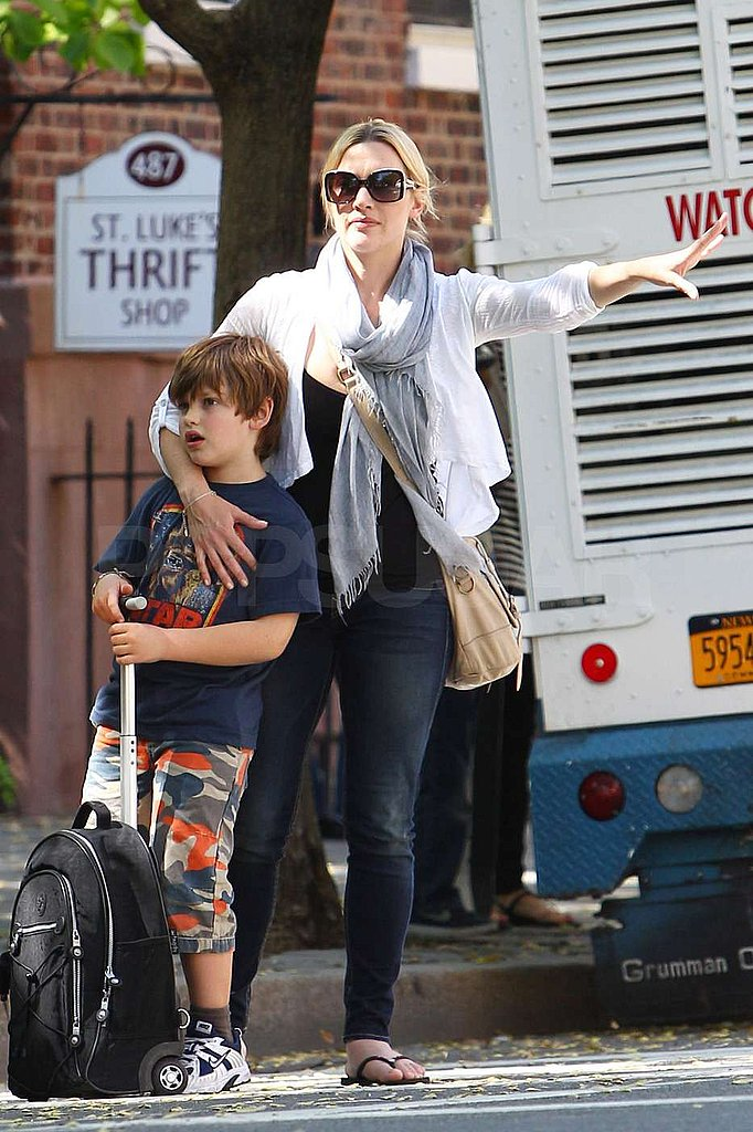 Kate Winslet Hangs On to Her Son Joe and Lands a New Spokesmodeling Gig