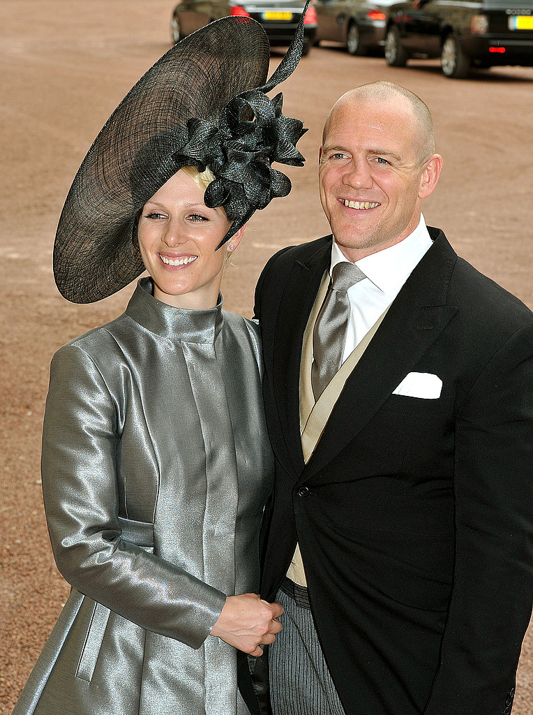 Zara and Mike left Buckingham Palace after William and Kate's wedding reception.