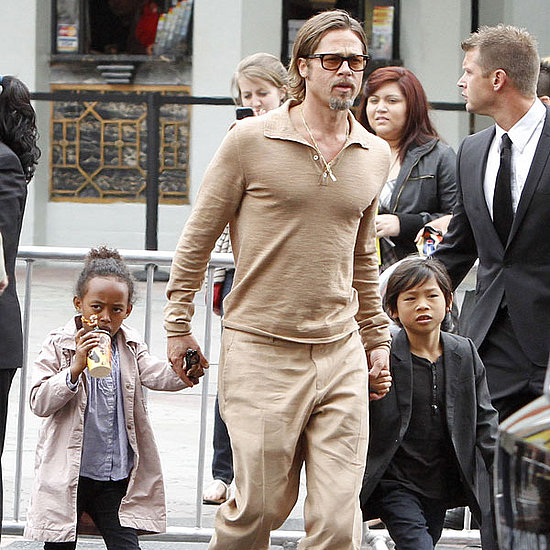 Pictures of Brad Pitt and Angelina Jolie With Kids at Kung Fu Panda 2 Premiere