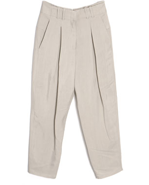 Alexander Wang Pleated Twill Drop Crotch Trousers ($435)