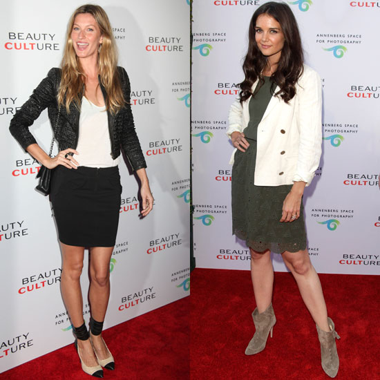 Gisele Bundchen Pictures at the Beauty Culture Opening in LA With Katie Holmes