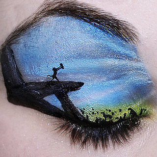 Amazing Face Paint Landscapes on Eyelids by Katie Alves