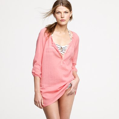 Pair this tunic with shorts for a laid-back feel.  J.Crew Beachcomber Tunic, $55