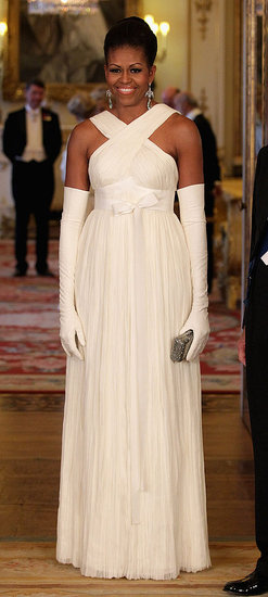 Michelle Obama Wears Tom Ford Cream Gown to UK State Dinner