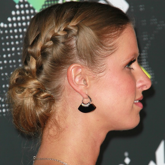 The Nicky Hilton Plaited Bun