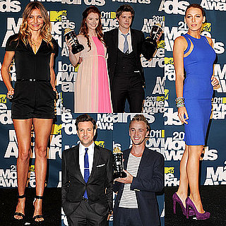 Blake Lively, Cameron Diaz and Twilight Cast Pictures in the 2011 MTV Movie Awards Press Room