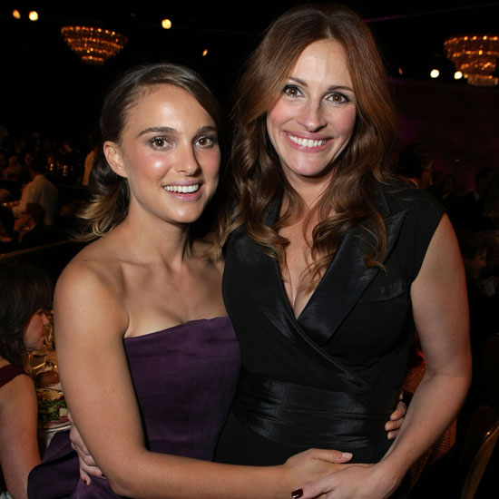 Natalie Portman and Julia Roberts both attended the American Cinematheque Awards in LA during October 2007.