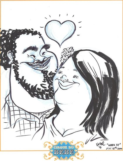 Our caricature...LOVE!