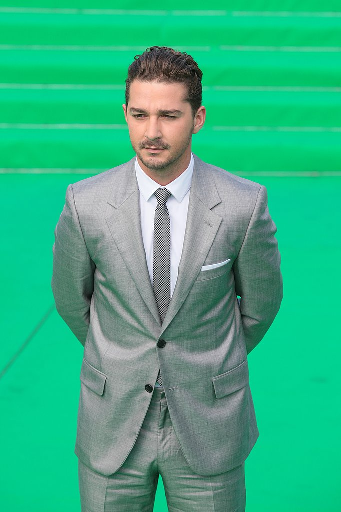 Shia LaBeouf stepped out solo for photos on the red carpet at the premiere.