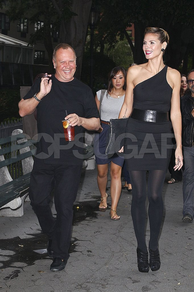 Heidi Klum teamed up with Michael Kors on the Project Runway set.