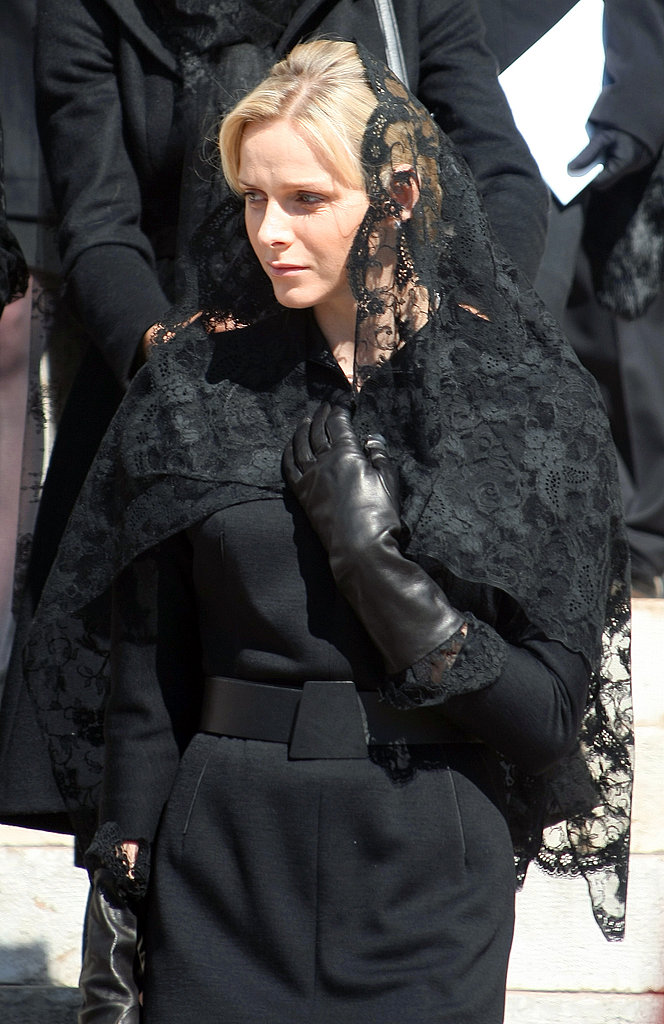 She attended the funeral of Princess Antoinette, late Prince Rainier's sister, at the Monaco Cathedral in March 2011. Source: Getty / Lionel Cironneau/AFP
