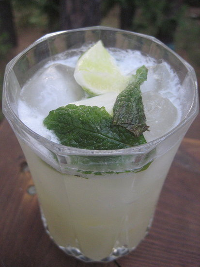 Two of my favorite drinks packed into one cup. The piña colada mojito is born.