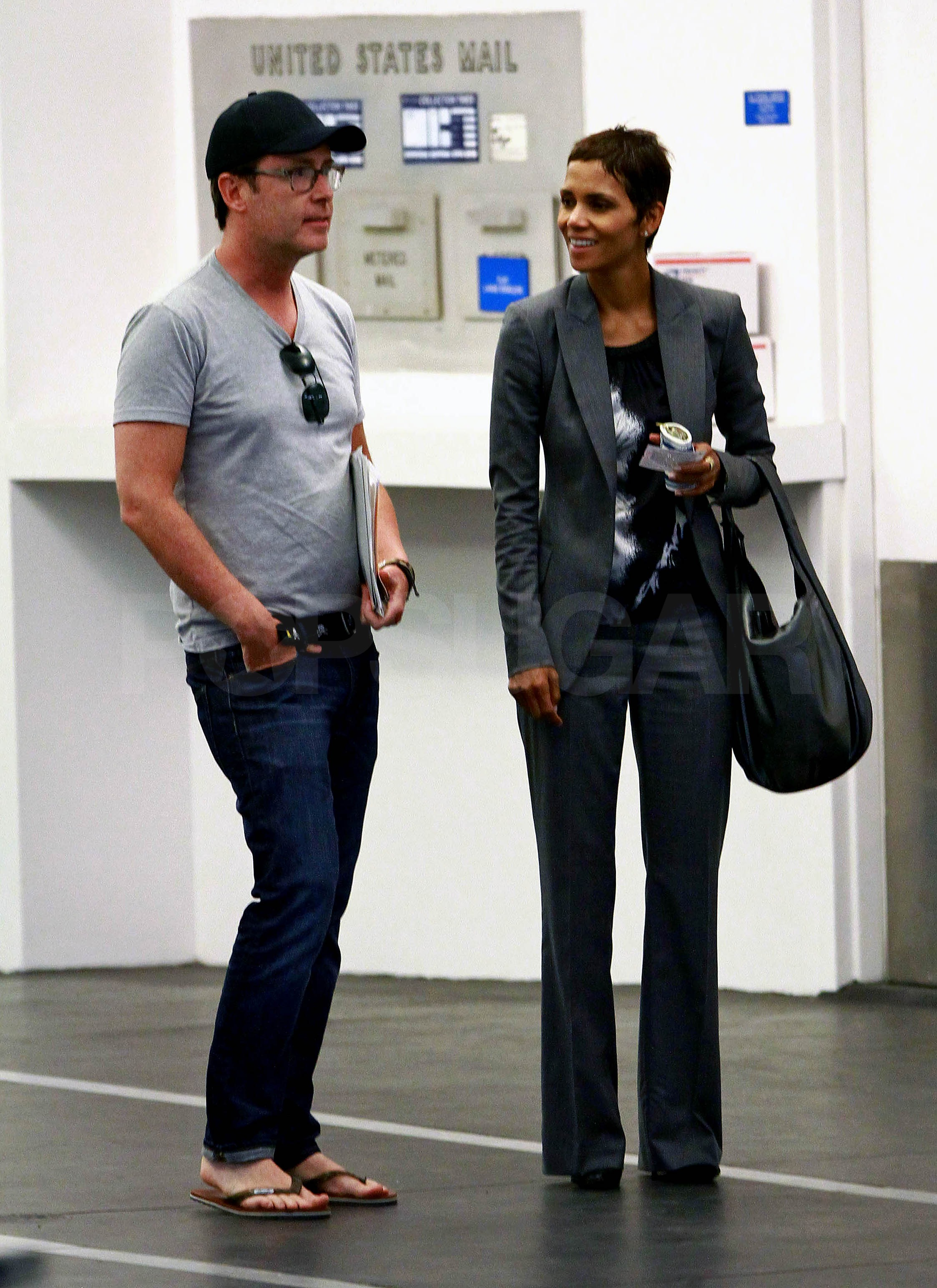 Halle Berry joined a friend in LA Tuesday.