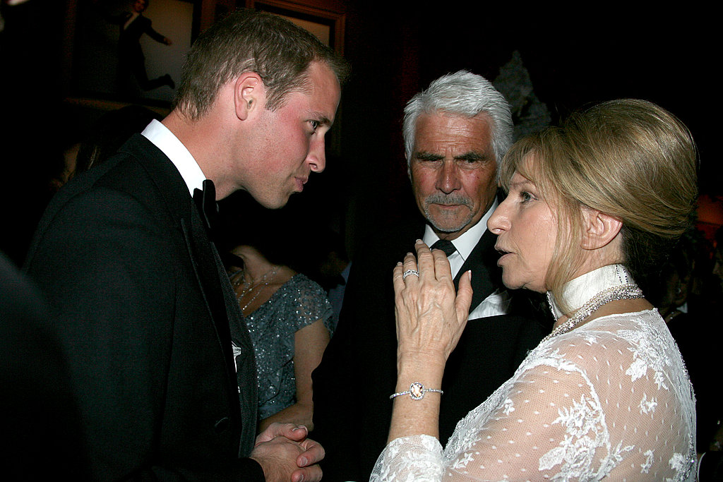 Prince William with Barbra Streisand at BAFTA Brits to Watch dinner.